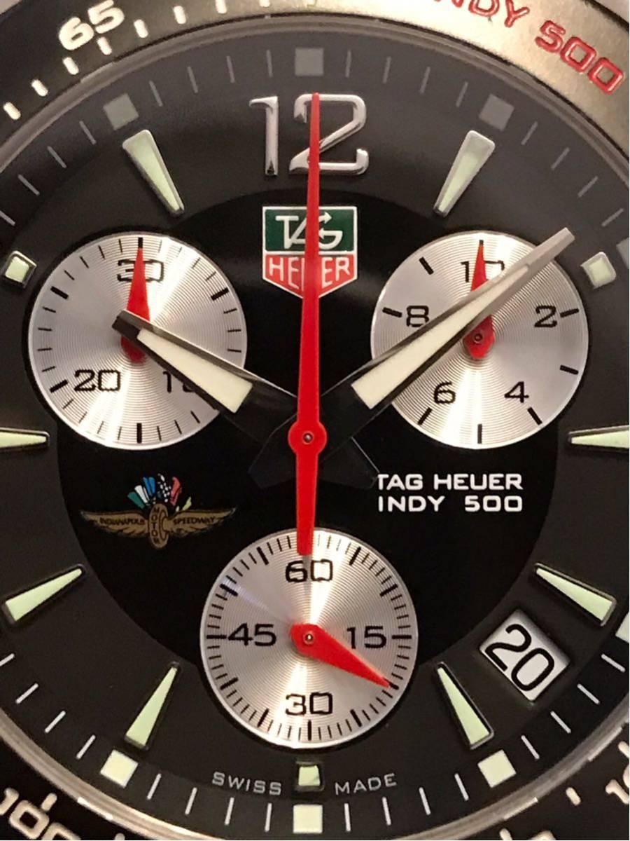 TAGHEUER タグホイヤー インディ500 クロノグラフ メンズ 腕時計 INDY500 フォーミュラ1 _画像9