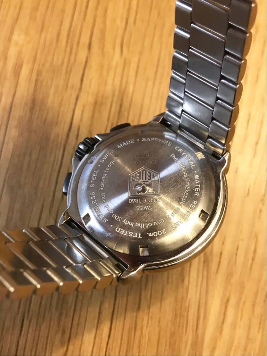 TAGHEUER タグホイヤー インディ500 クロノグラフ メンズ 腕時計 INDY500 フォーミュラ1 _画像8