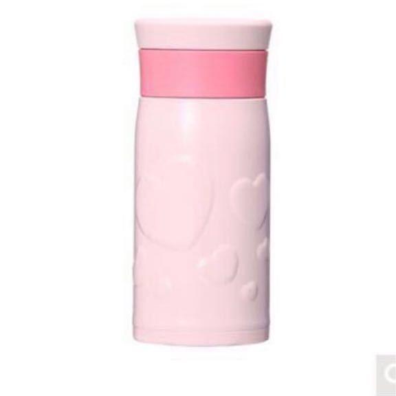 即決★スタバ 2018 バレンタイン ピンク ステンレスボトル ハート 350ml サーモス レア 限定_画像2