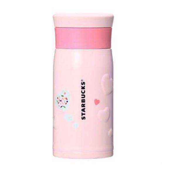 即決★スタバ 2018 バレンタイン ピンク ステンレスボトル ハート 350ml サーモス レア 限定_画像1