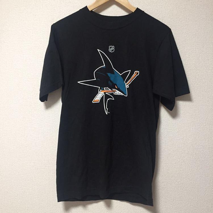 古着Tシャツ リーボック NHL サンノゼシャークス BOYLE Sサイズ ブラック_画像2