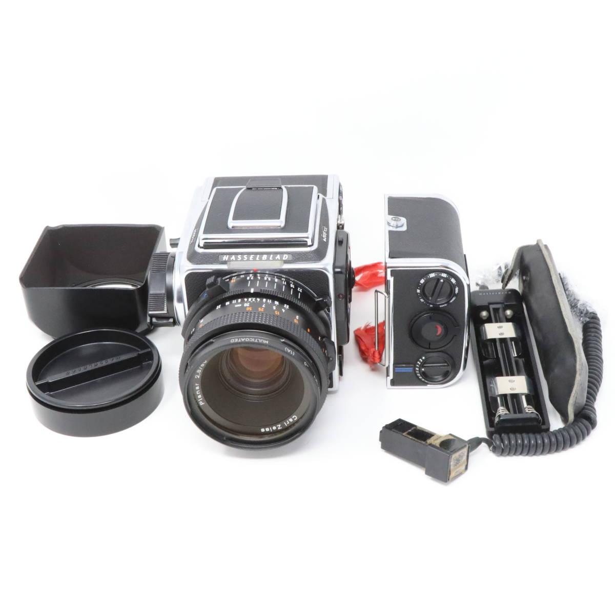 【中古良品完動品】 HASSELBLAD ハッセルブラッド 中判一眼レフカメラ ☆205TCC CarlZeiss Planar F 80mm F2.8 T* マガジン12TCC +16TCC付