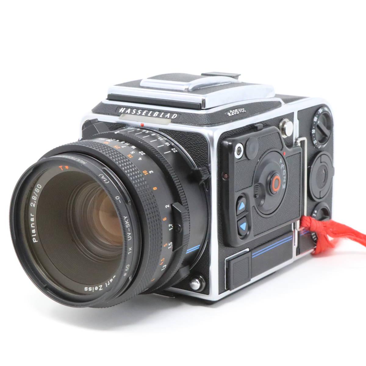 【中古良品完動品】 HASSELBLAD ハッセルブラッド 中判一眼レフカメラ ☆205TCC CarlZeiss Planar F 80mm F2.8 T* マガジン12TCC +16TCC付_画像2