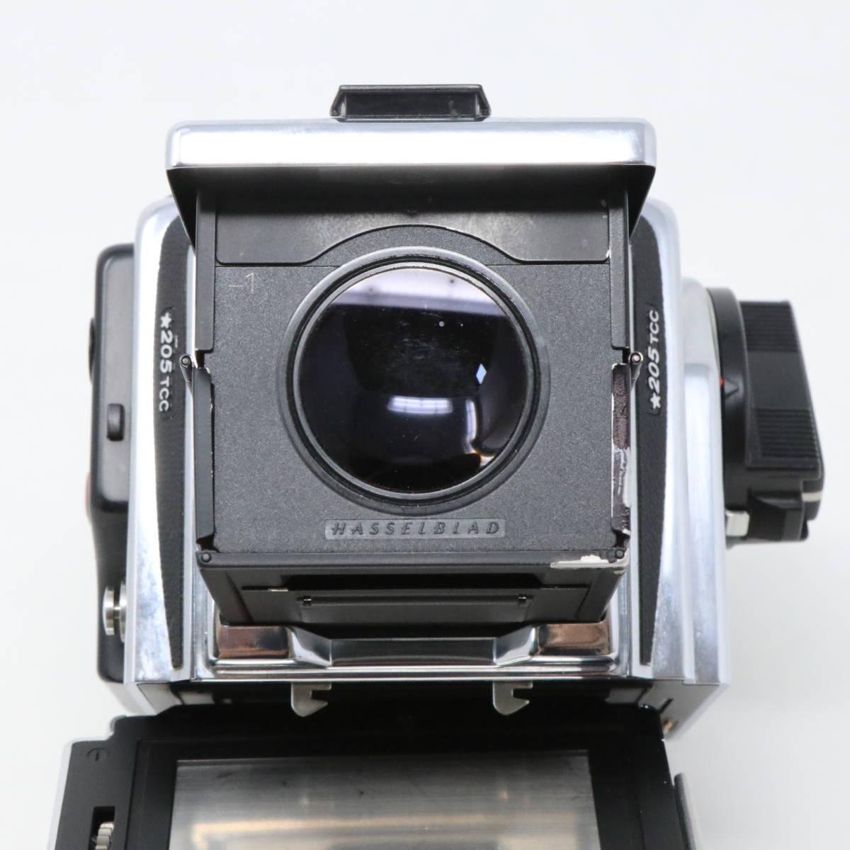 【中古良品完動品】 HASSELBLAD ハッセルブラッド 中判一眼レフカメラ ☆205TCC CarlZeiss Planar F 80mm F2.8 T* マガジン12TCC +16TCC付_画像5