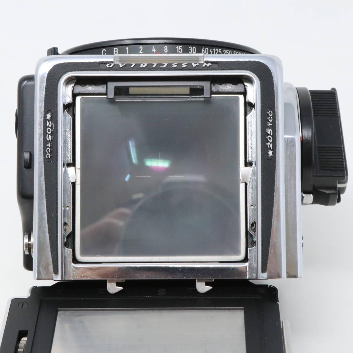 【中古良品完動品】 HASSELBLAD ハッセルブラッド 中判一眼レフカメラ ☆205TCC CarlZeiss Planar F 80mm F2.8 T* マガジン12TCC +16TCC付_画像6