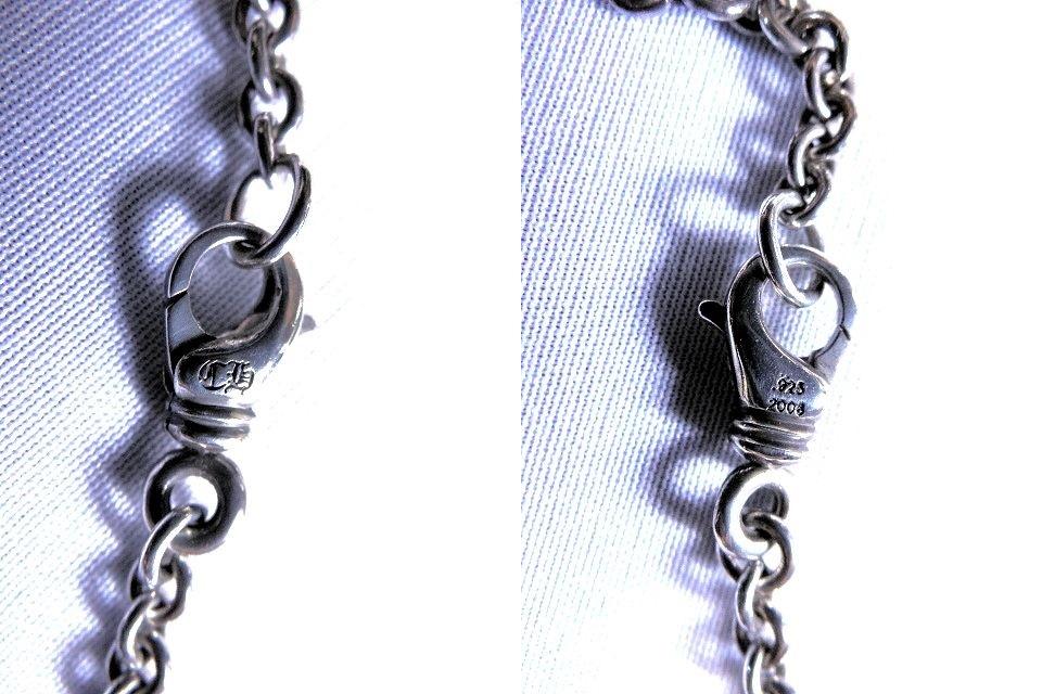 確実正規 本物 豪華 CHROME HEARTS クロムハーツ キーパーペンダント NEチェーン セット ネックレス 定価20万 名作 送料無料_画像9