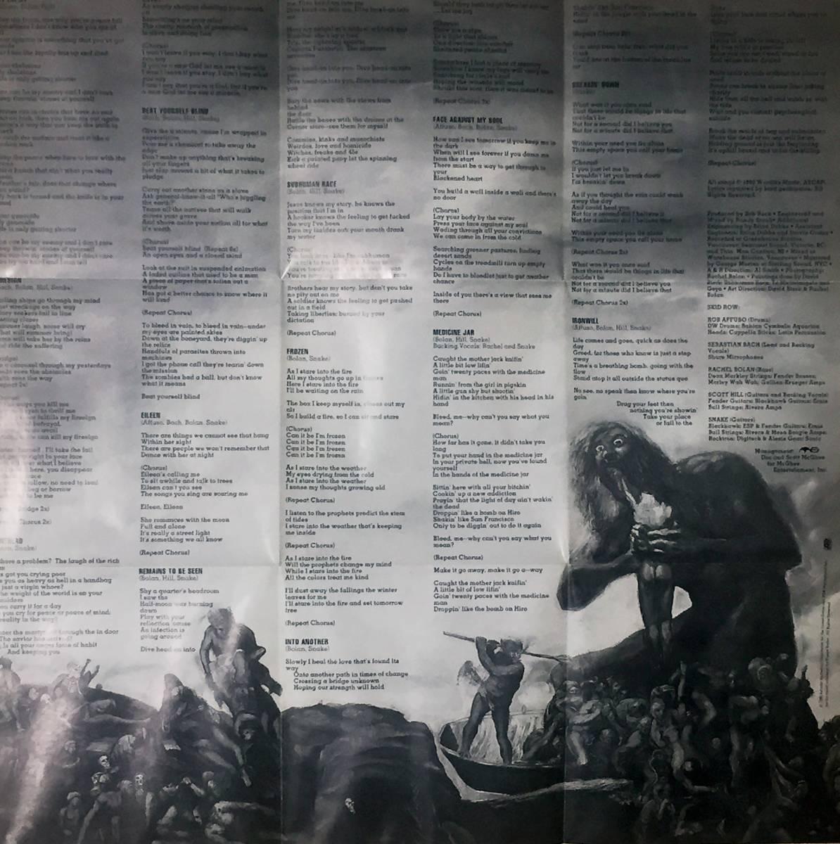 スキッド・ロウの1995年発売のインポートCD 「サブヒューマン・レース」 13曲入りのデジパック仕様 西ドイツ盤です。_画像8