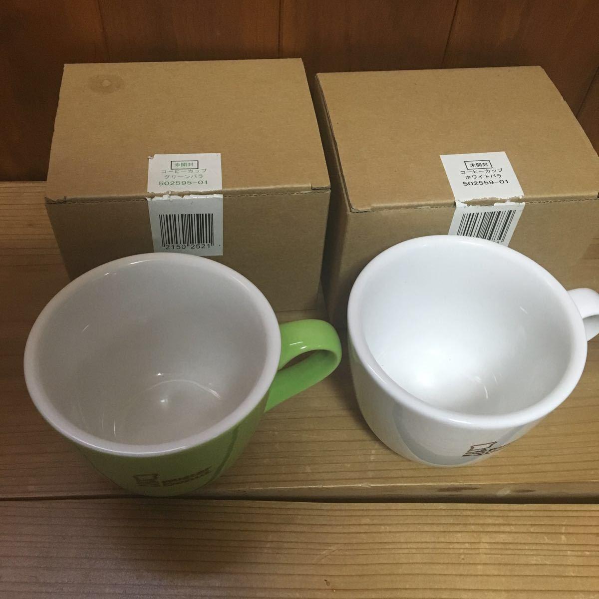 未使用 陶器製 ミスタードーナツ マグカップ 2個 セット 検索 ミスド ドーナッツ 非売品 グッズ 企業物 ノベルティ マグ コップ_画像2