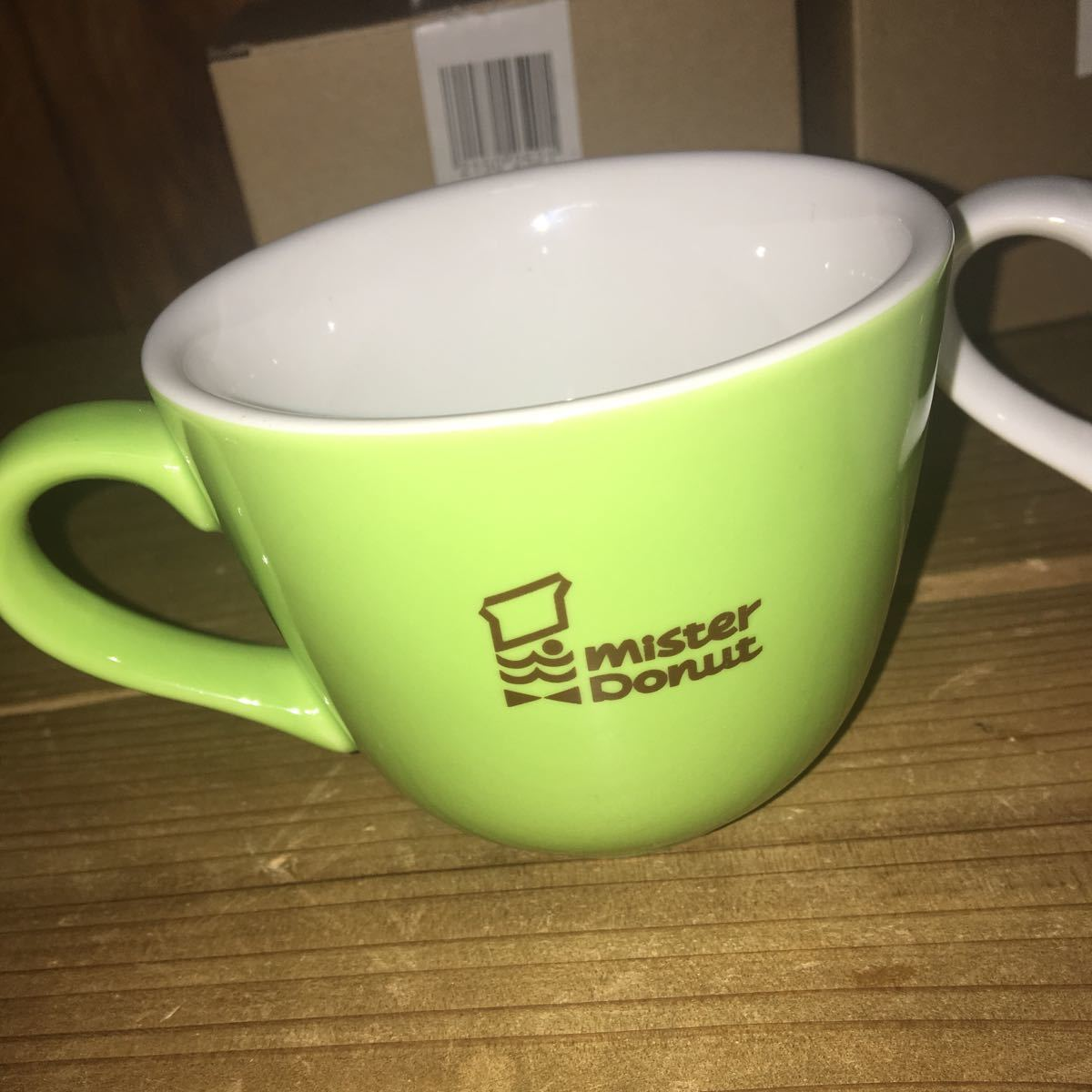 未使用 陶器製 ミスタードーナツ マグカップ 2個 セット 検索 ミスド ドーナッツ 非売品 グッズ 企業物 ノベルティ マグ コップ_画像6