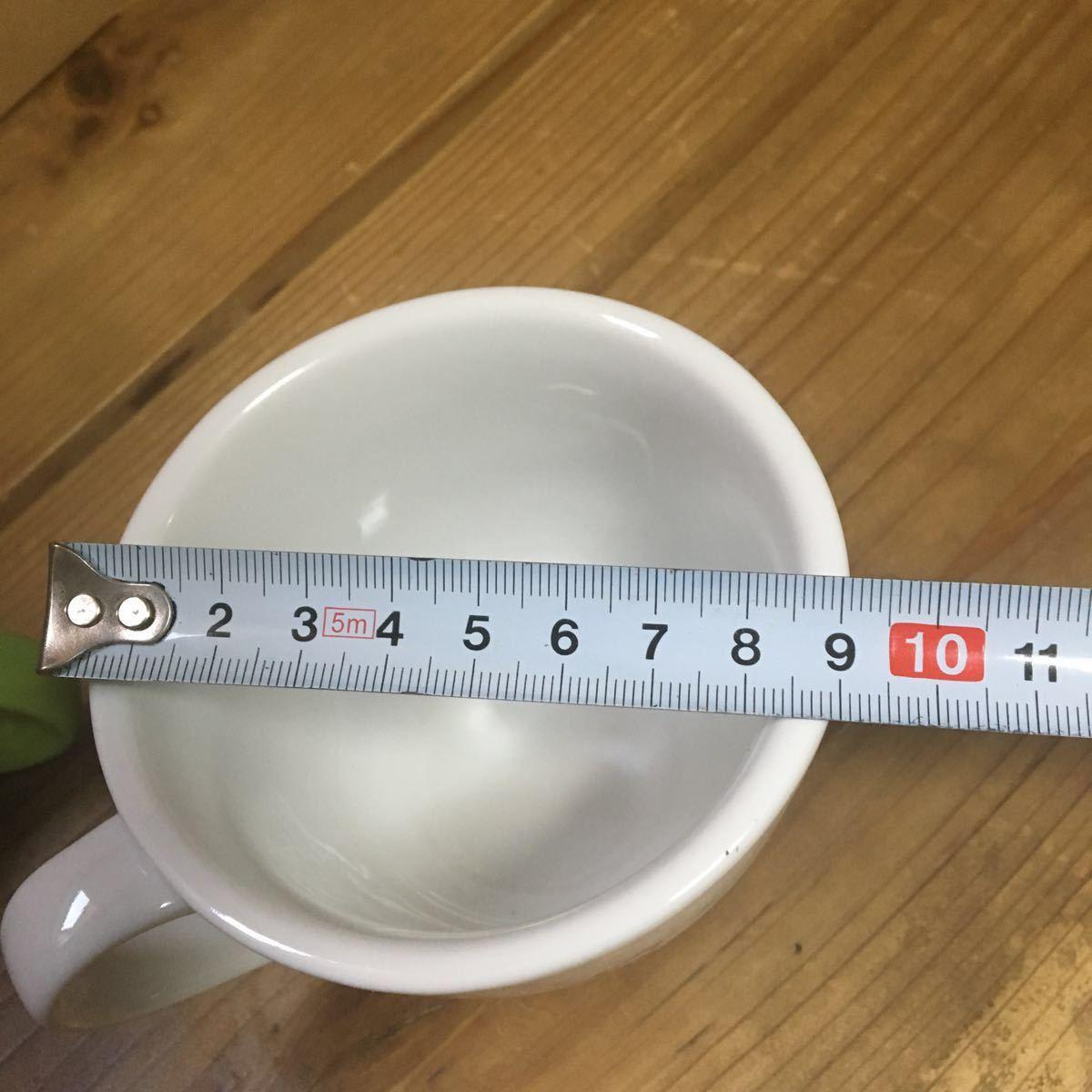 未使用 陶器製 ミスタードーナツ マグカップ 2個 セット 検索 ミスド ドーナッツ 非売品 グッズ 企業物 ノベルティ マグ コップ_画像4