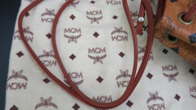 *MCM ロゴ柄 巾着 ショルダー ハンドバッグ _画像3