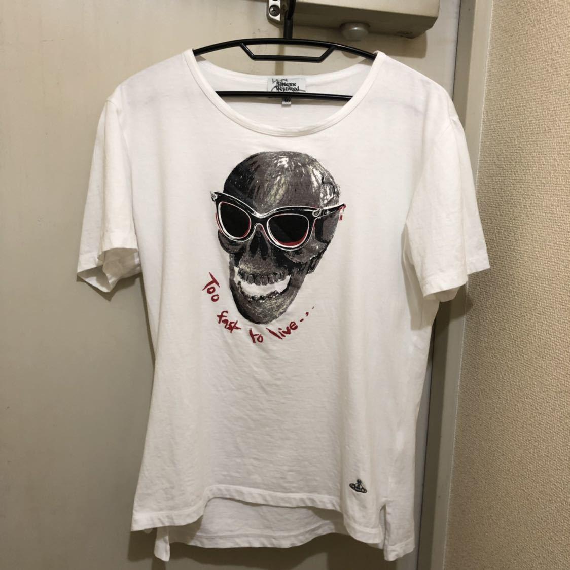 送料無料!46サイズ!日本製ヴィヴィアンウエストウッドマン 古着半袖Tシャツ_画像6