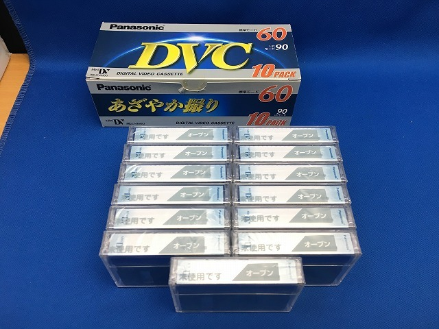 未開封品 Panasonic ミニDVカセット 13本 標準60分 パナソニック MiniDV_画像3