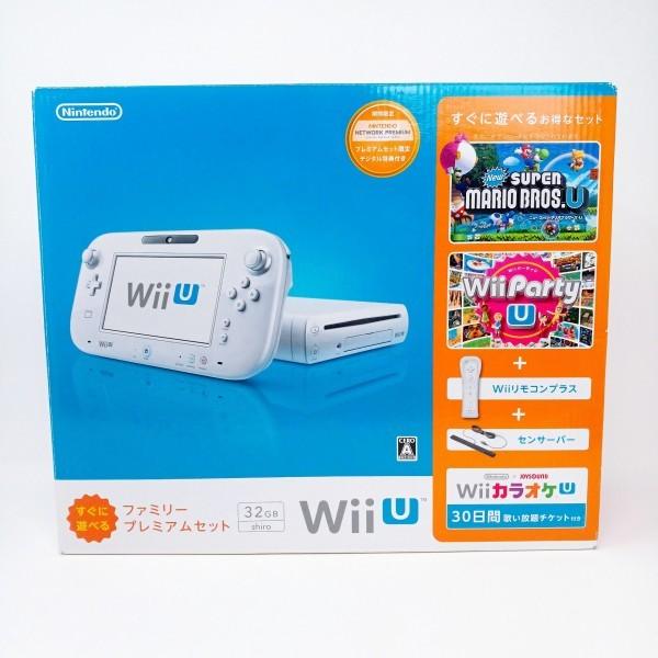 【店頭展示品 未使用】 Wii U 本体 すぐに遊べる ファミリープレミアム セット シロ WiiU 32GB