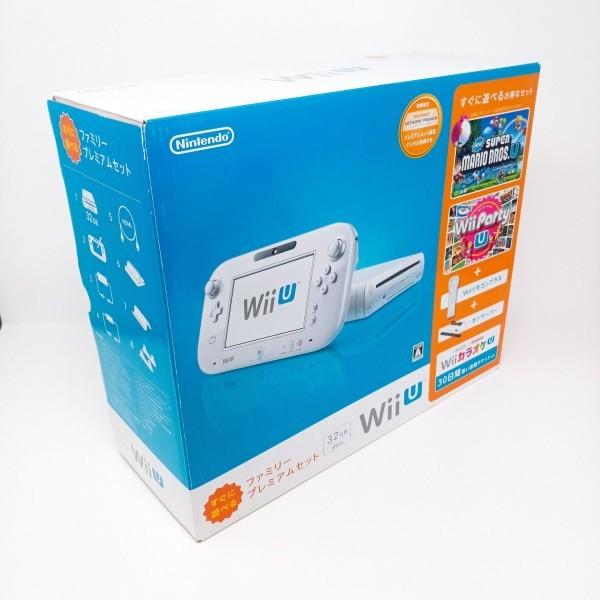 【店頭展示品 未使用】 Wii U 本体 すぐに遊べる ファミリープレミアム セット シロ WiiU 32GB_画像2