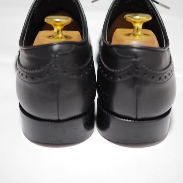 送料込 junhashimoto(ジュンハシモト)ウイングチップ スタッズ レザーシューズ 定価62,640円 25.5cm 短靴 AKM 1piu1uguale3 メンズ 黒革靴_画像5