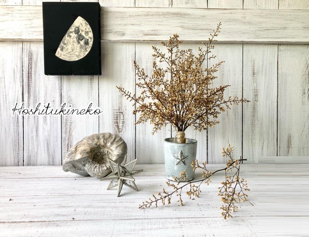 星月猫★「ナンテンの蕾のみで作ったシャビーシックなスワッグ中サイズ」おまけ小枝2本付 ドライフラワー 花束_画像1