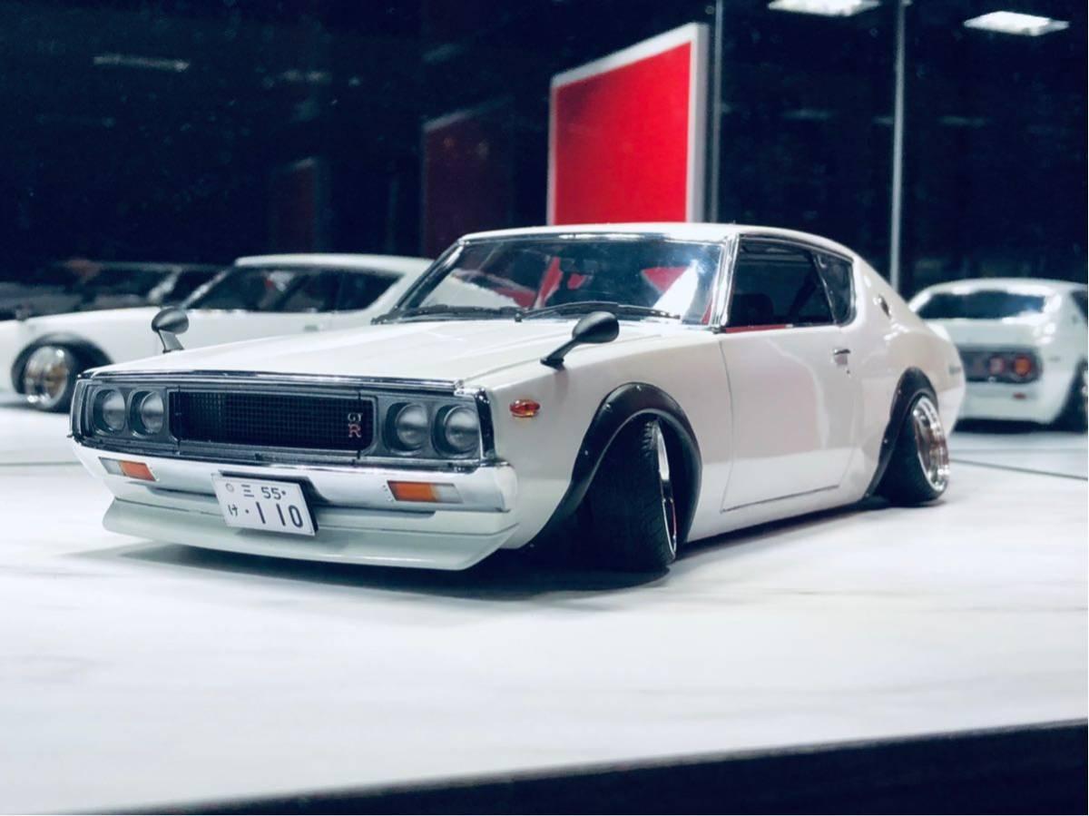 1/18 ケンメリ 2000 GT-R ☆カスタム改造 希少な白ステアリング動作可能_画像8