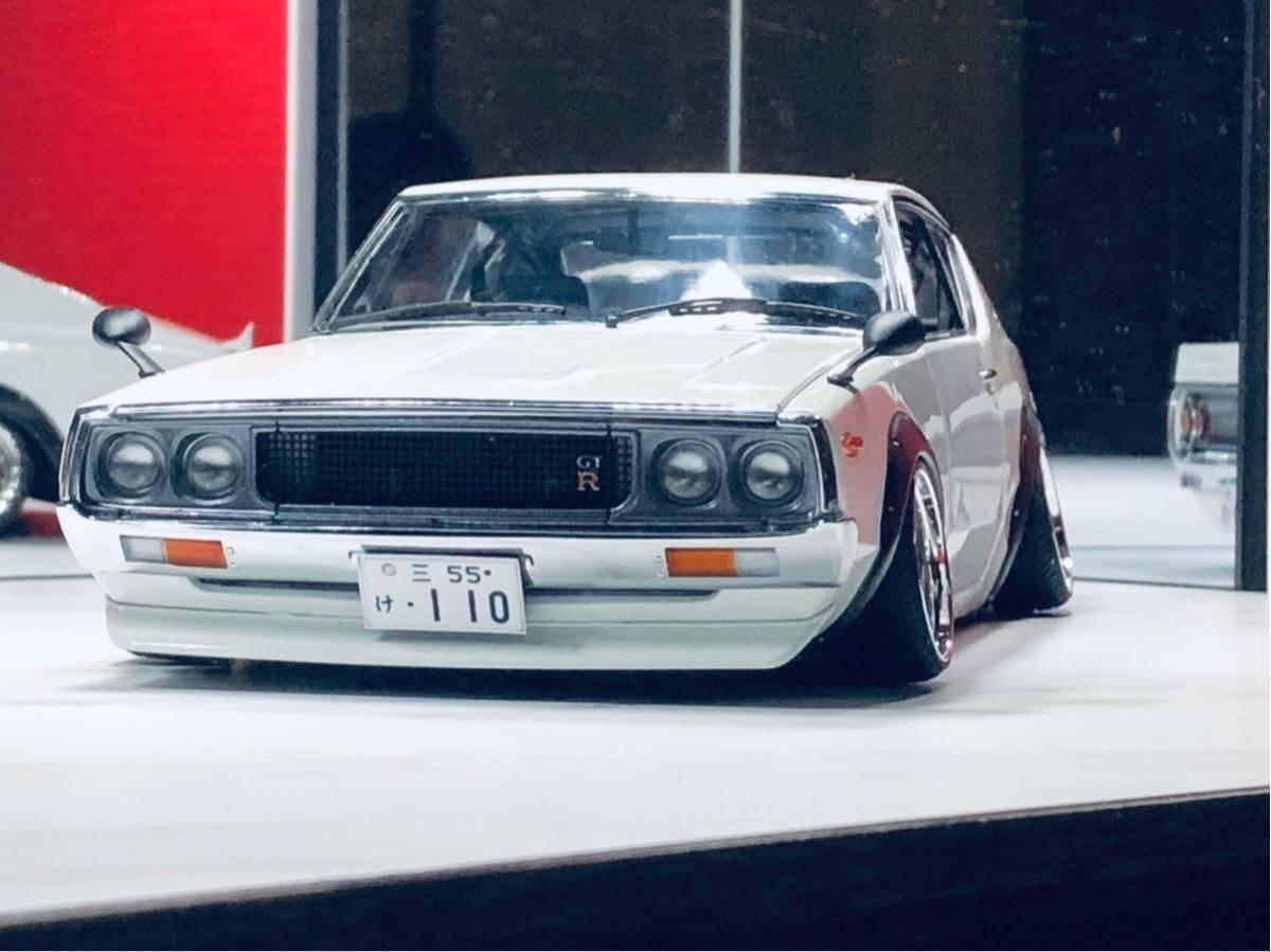1/18 ケンメリ 2000 GT-R ☆カスタム改造 希少な白ステアリング動作可能_画像3