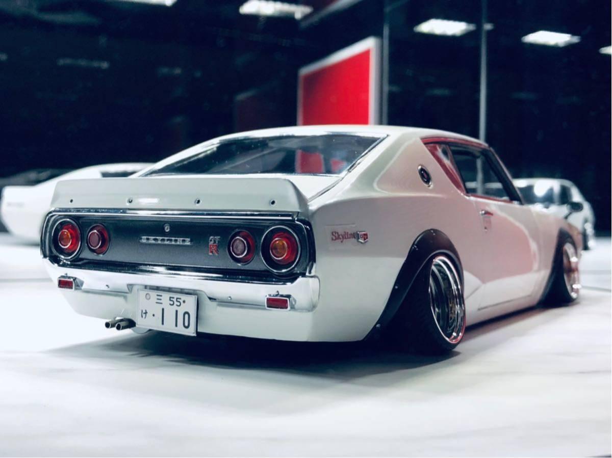 1/18 ケンメリ 2000 GT-R ☆カスタム改造 希少な白ステアリング動作可能_画像5