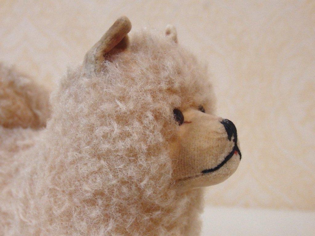 steiffシュタイフ/ ビンテージ・チャウチャウ犬 / 12cm_画像6