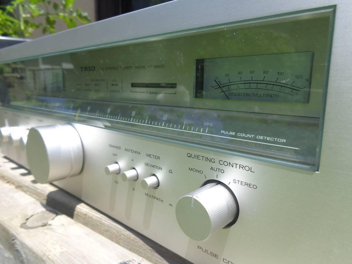 トリオ KT-9900 FM専用チューナー 動作確認品_画像3