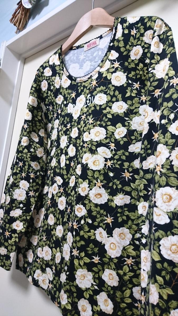 【新品】★PICCO*LOVER(ピンクハウス)★お洒落な花柄プリントのTシャツ♪サイズ/F_画像4