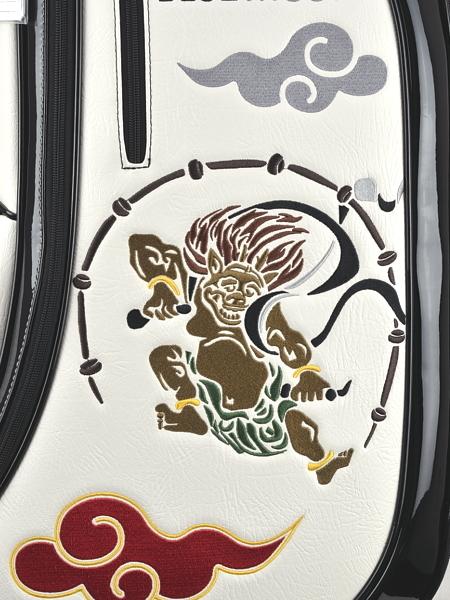 ★新品1円スタート!!◎2019年NEWモデル★ブルームーン 風神雷神 WH 9型 ゴルフ キャディバッグ(残りわずか)_画像6