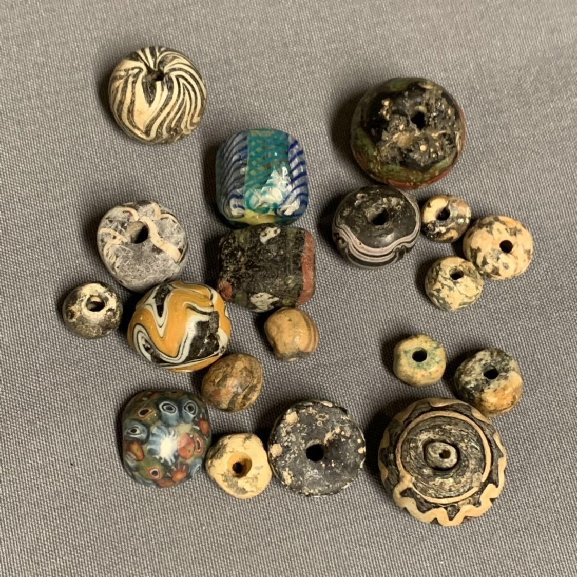 古いとんぼ玉 ビーズ 古玉など19個 コレクター ペルシャ イラン 古代ローマ_画像10