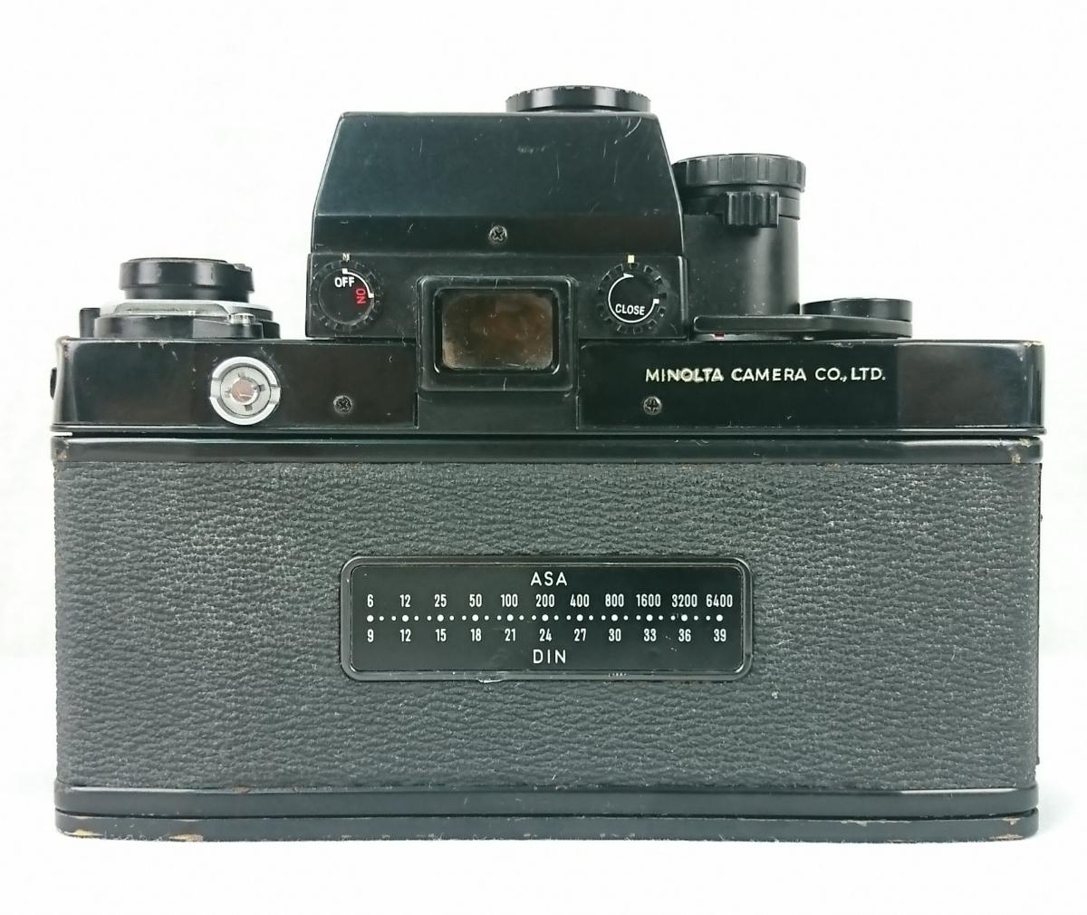 【GK-542】 名機! MINOLTA ミノルタ X-1 一眼レフ フィルムカメラ MC TELE ROKKOR-PF 1:2.8 f=135mm/ MC FISH-EYE ROKKOR-OK 1:2.8 f=16mm _画像5
