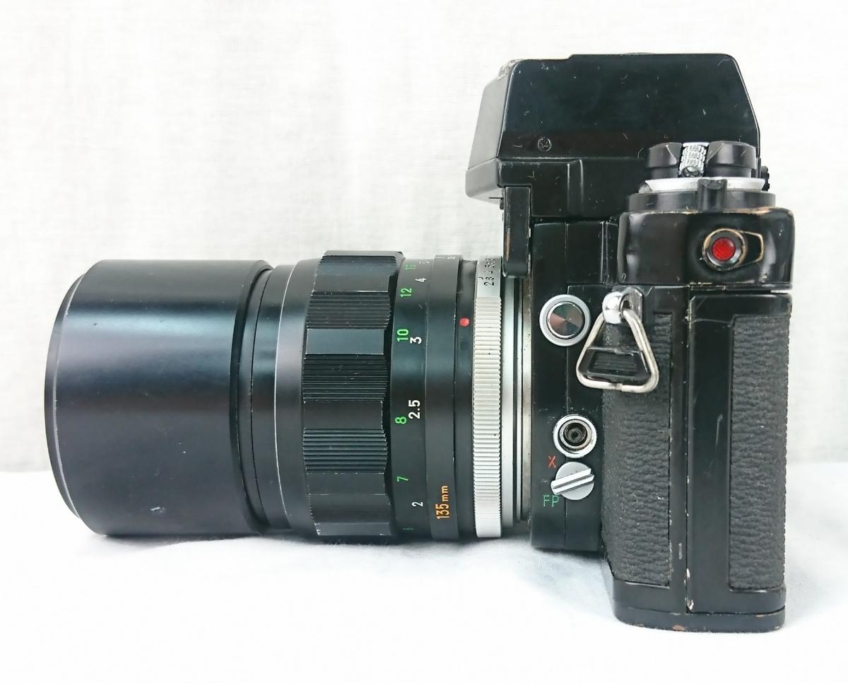 【GK-542】 名機! MINOLTA ミノルタ X-1 一眼レフ フィルムカメラ MC TELE ROKKOR-PF 1:2.8 f=135mm/ MC FISH-EYE ROKKOR-OK 1:2.8 f=16mm _画像4