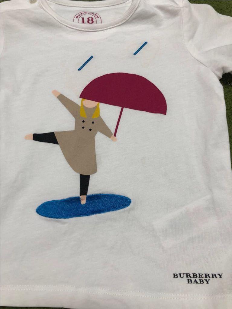 超美品 正規品 イギリス購入 バーバリー ベビー 子ども キッズ Tシャツ 3枚 福袋 ホワイト ロゴ 男女とも_画像3