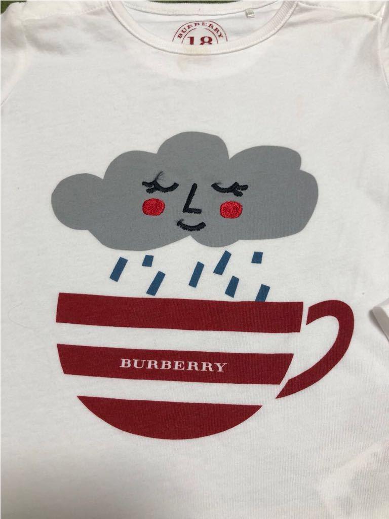 超美品 正規品 イギリス購入 バーバリー ベビー 子ども キッズ Tシャツ 3枚 福袋 ホワイト ロゴ 男女とも_画像4