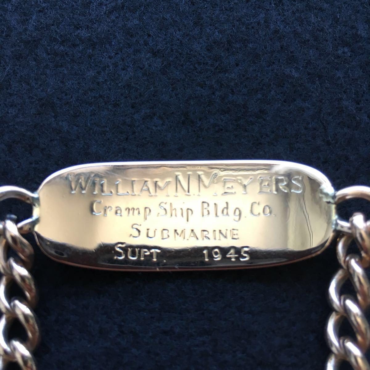 希少 貴金属 YG/10金 K10 ゴールド 1945年 ID ブレスレット ブレス ミリタリー 海軍 米軍 アメリカ軍 歴史資料 軍隊 潜水艦 アンティーク_画像2