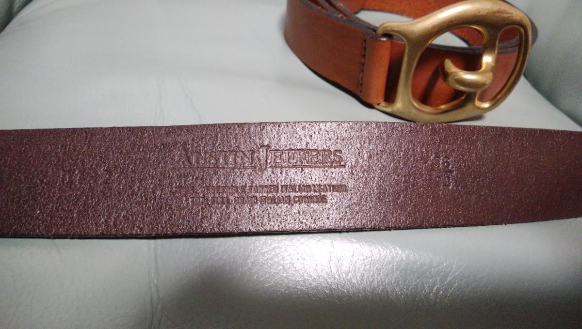 AUSTIN JEFFERS ITALY 36/90 高級レザーベルト2本セット 美品_画像4