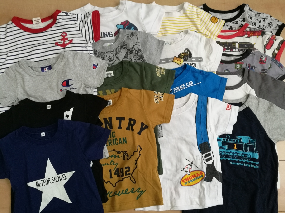 ベビー・キッズ服 90・95 半袖Tシャツ 男の子セット 古着