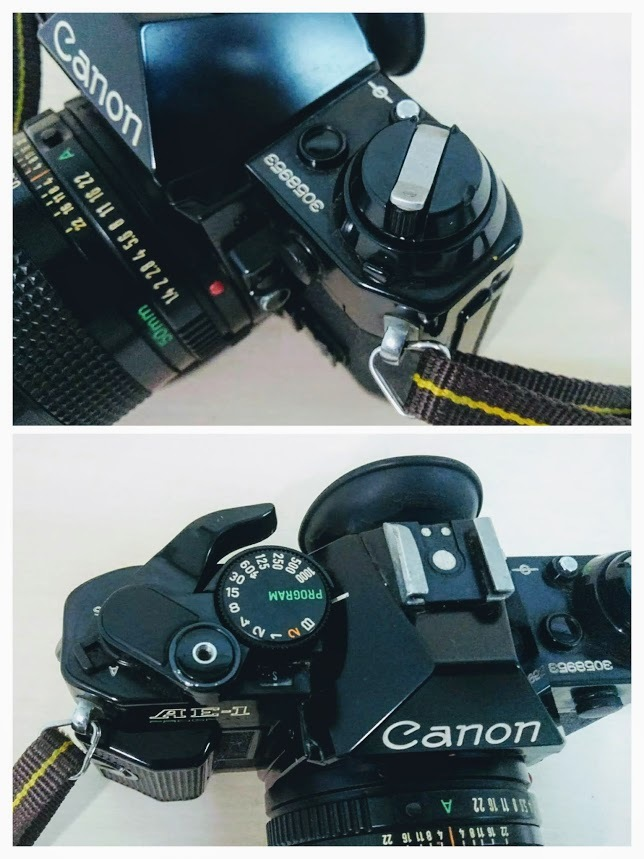☆ Canon/キヤノン AE-1 PROGRAM+CANON LENS NEW FD 50mm F1.4 フィルムカメラ 一眼レフカメラ ブラック レンズ付_画像8
