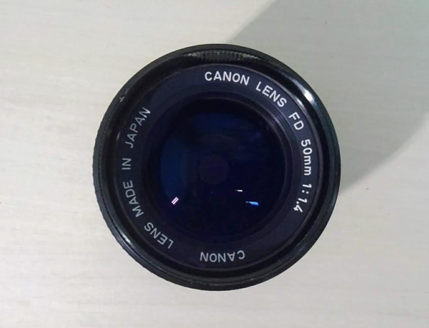 ☆ Canon/キヤノン AE-1 PROGRAM+CANON LENS NEW FD 50mm F1.4 フィルムカメラ 一眼レフカメラ ブラック レンズ付_画像9