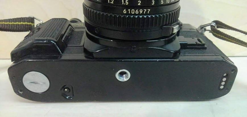 ☆ Canon/キヤノン AE-1 PROGRAM+CANON LENS NEW FD 50mm F1.4 フィルムカメラ 一眼レフカメラ ブラック レンズ付_画像6