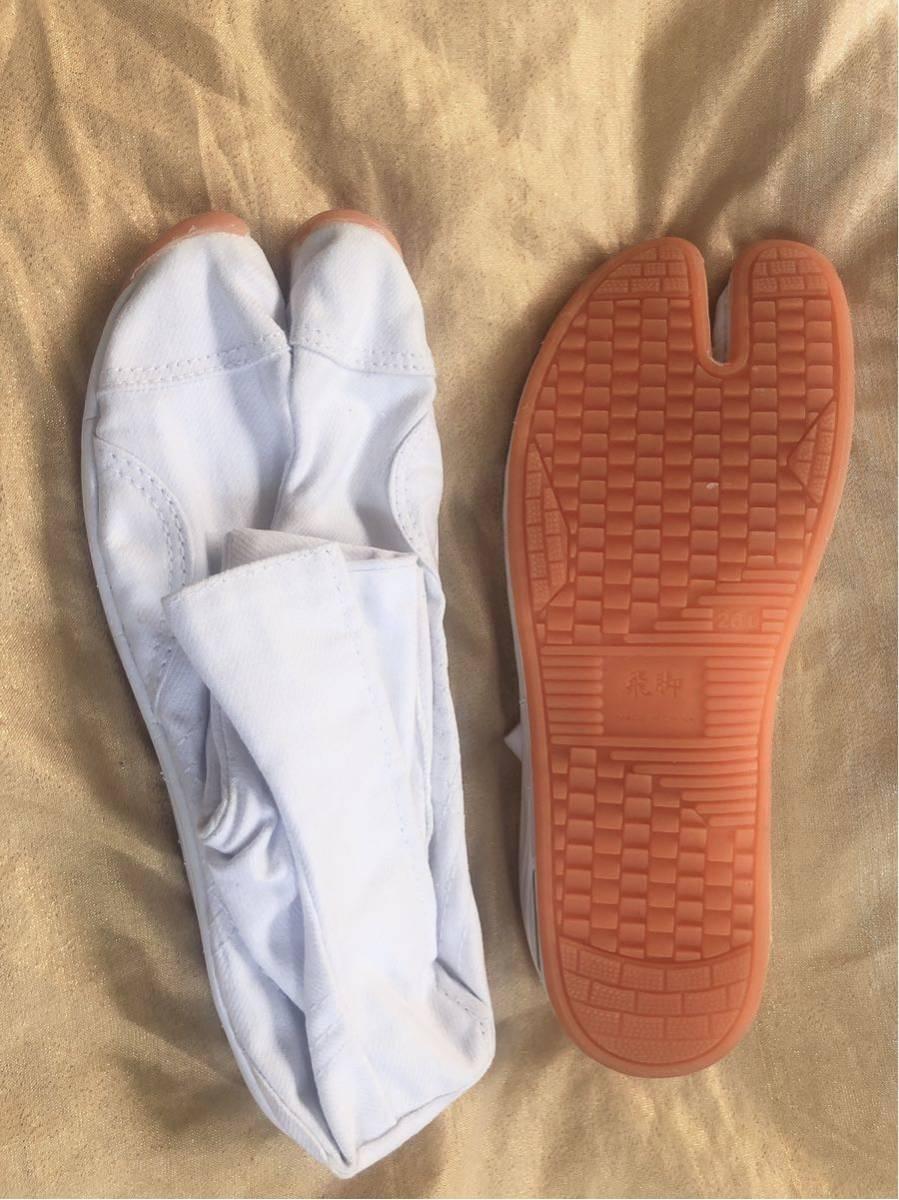 【飛脚足袋】 エアークッション足袋 7枚コハゼ 白 新品未使用 送料510円 祭 神輿 26㎝_画像2