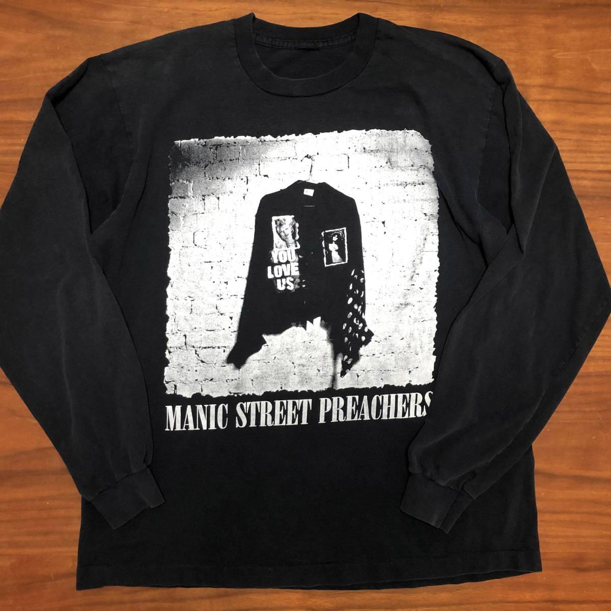 90s ビンテージ Manic Street Preachers マニックス ロンT Tシャツ XLサイズ ヴィンテージ バンドT OASIS NIRVANA ラフシモンズ Fear ofgod_画像1