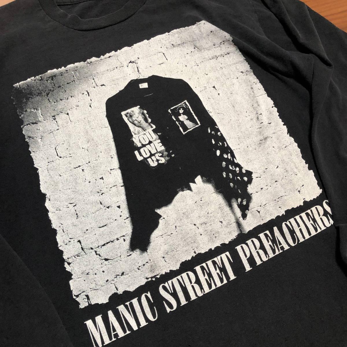 90s ビンテージ Manic Street Preachers マニックス ロンT Tシャツ XLサイズ ヴィンテージ バンドT OASIS NIRVANA ラフシモンズ Fear ofgod_画像4