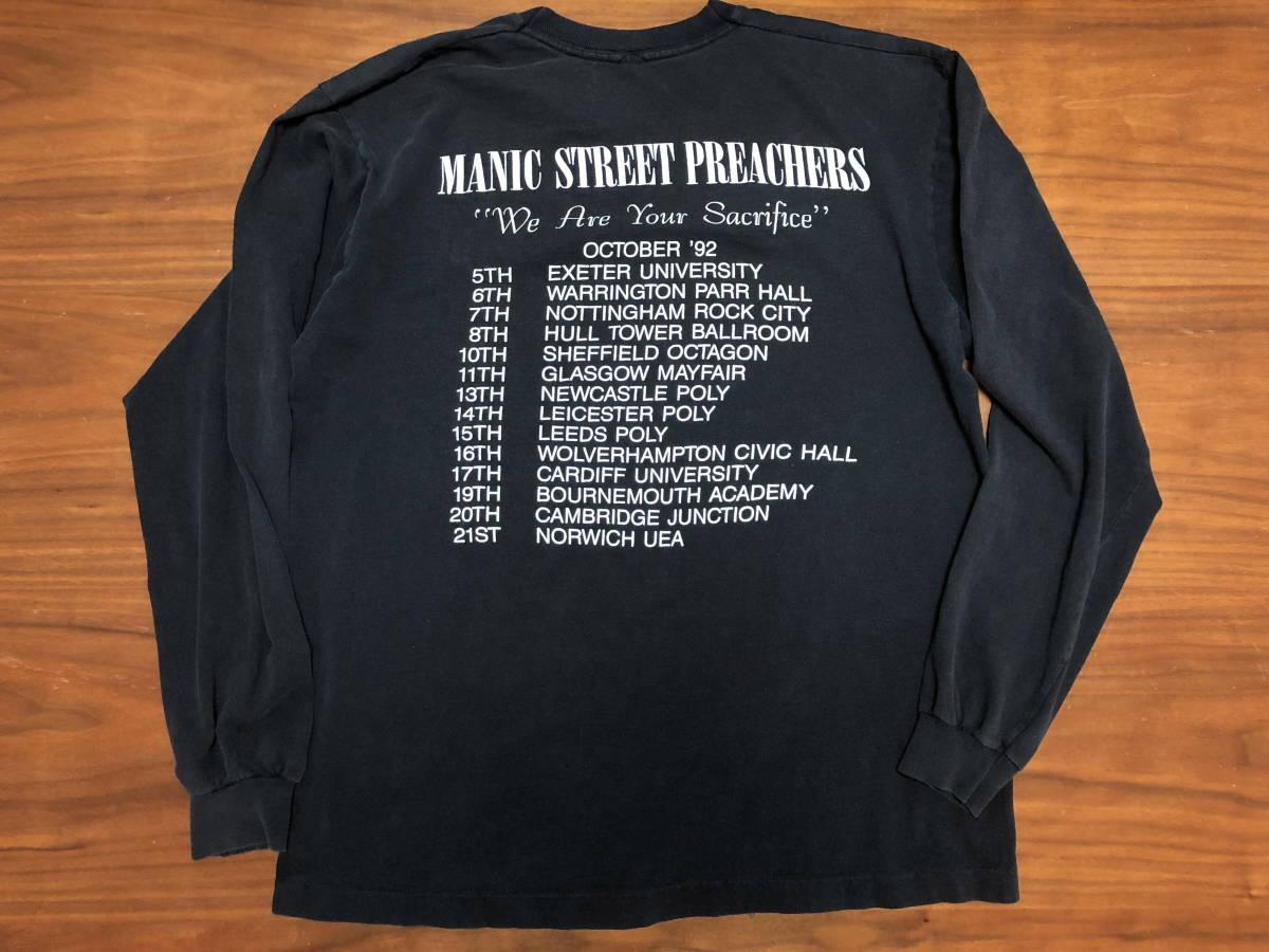 90s ビンテージ Manic Street Preachers マニックス ロンT Tシャツ XLサイズ ヴィンテージ バンドT OASIS NIRVANA ラフシモンズ Fear ofgod_画像3
