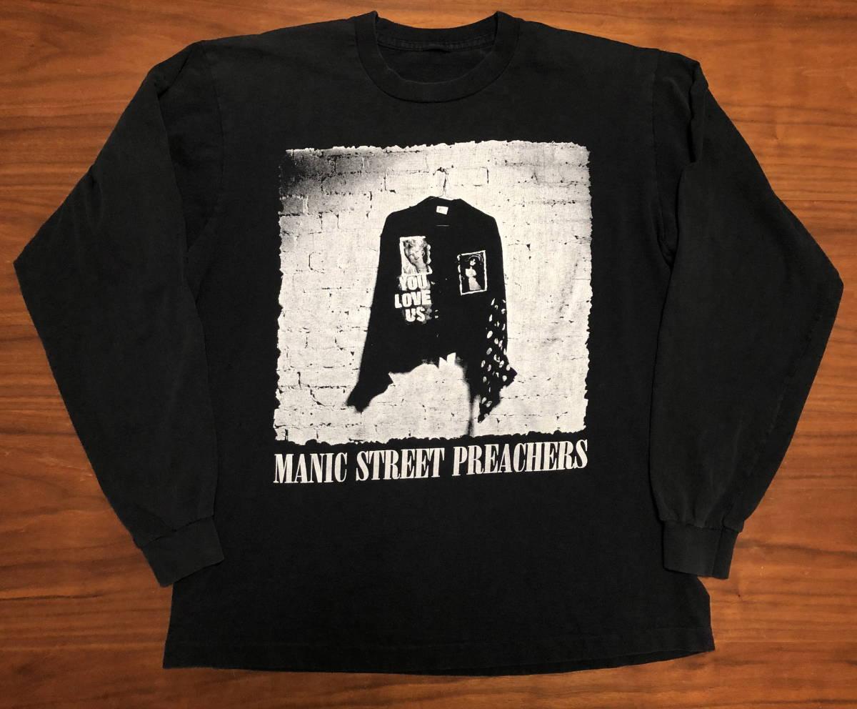 90s ビンテージ Manic Street Preachers マニックス ロンT Tシャツ XLサイズ ヴィンテージ バンドT OASIS NIRVANA ラフシモンズ Fear ofgod_画像2