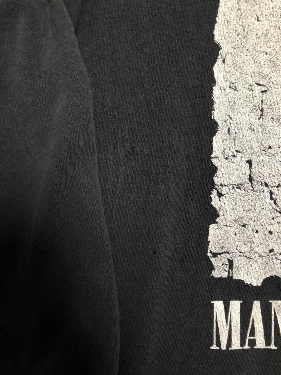 90s ビンテージ Manic Street Preachers マニックス ロンT Tシャツ XLサイズ ヴィンテージ バンドT OASIS NIRVANA ラフシモンズ Fear ofgod_フロントピンホール