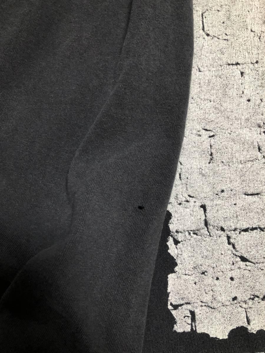 90s ビンテージ Manic Street Preachers マニックス ロンT Tシャツ XLサイズ ヴィンテージ バンドT OASIS NIRVANA ラフシモンズ Fear ofgod_右袖ピンホール