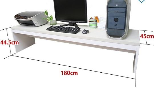 薄型パソコンローデスク幅180cm ナチュラル色/PCデスク/机/つくえ/ロータイプ_画像2