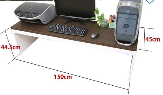 薄型パソコンローデスク幅150cm ナチュラル色/PCデスク/机/つくえ/ロータイプ_画像2