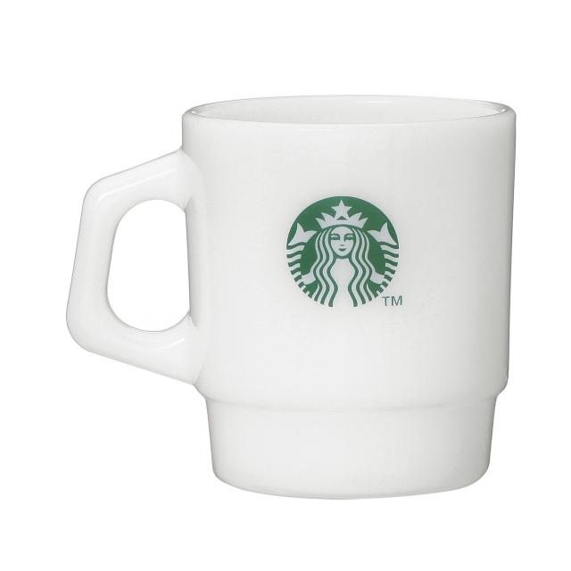可愛すぎる!2個セット! STARBUCKS ファイヤーキング製 グラスマグ スタアバックス珈琲 207ml マグカップ 未使用新品 オンラインストア限定