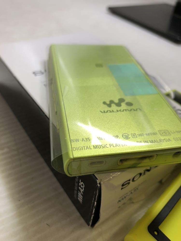 ※SONY/ソニーWALKMAN A16 NW-A35 イヤホン、付属品あり _画像4